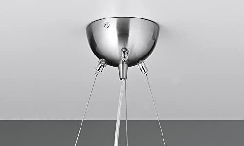 NEG Hängeleuchte UnoPalloni (28,5cm Kugel-Durchmesser) Deckenlampe aus Opalglas und Edelstahl - 4