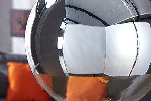 Große Design Hängelampe GLOBE 40cm Glas chrom Kugelleuchte - 2