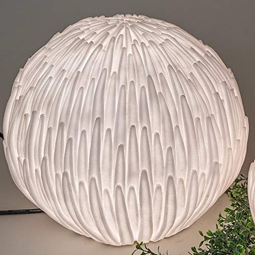 Kugellampe, Leuchte, Gartenlampe BLÜTE H 36cm, weiß wetterfest Formano - 2