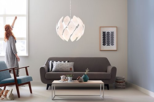 Philips myLiving Pendelleuchte Chiffon, 60 W, Plastik, E27, weiß, 80 x 80 x 56,4 cm, 4093431PN - 4