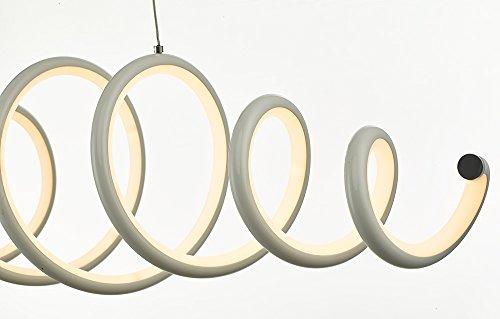 N3 Lighting Moderne Design LED Pendelleuchte, Esstischleuchte höhenverstellbar - Hängelampe Dimmbar Stufenlos - LED Pendellampe für Esszimmer-Lampe (Hängeleuchte, Esstisch, Chrome, 56 Watt, Warmweiß) - 5