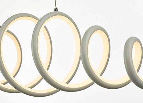 N3 Lighting Moderne Design LED Pendelleuchte, Esstischleuchte höhenverstellbar - Hängelampe Dimmbar Stufenlos - LED Pendellampe für Esszimmer-Lampe (Hängeleuchte, Esstisch, Chrome, 56 Watt, Warmweiß) - 6