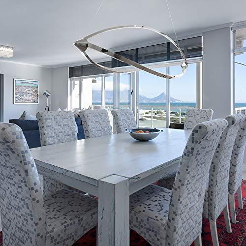 Lu-Mi® LED Pendelleuchte Höhenverstellbar Küchen Deckenleuchte Wohnzimmer Designleuchte Deckenlampe Schlafzimmer Modern (Sunset Lina) - 4