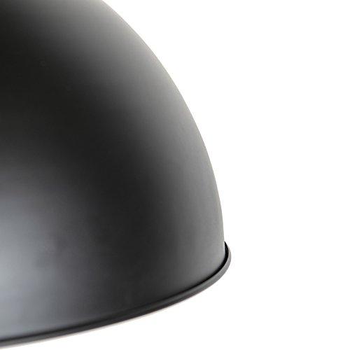 QAZQA Modern Halbrund Pendelleuchte,matt schwarz innen Gold / Messing - 6