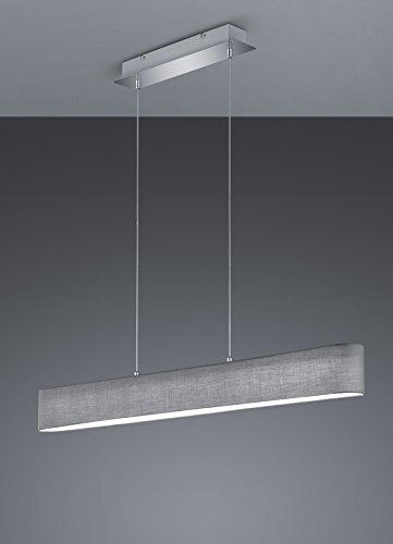 Trio Leuchten LED Pendelleuchte, Nickel, Integriert, 18 W, Grau, 8.5 x 100 x 150 cm - 2
