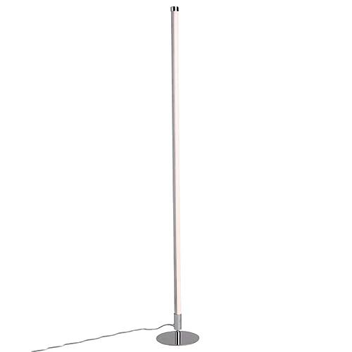 QAZQA Modern Stehleuchte / Stehlampe / Standleuchte LED Chrom Dimmer