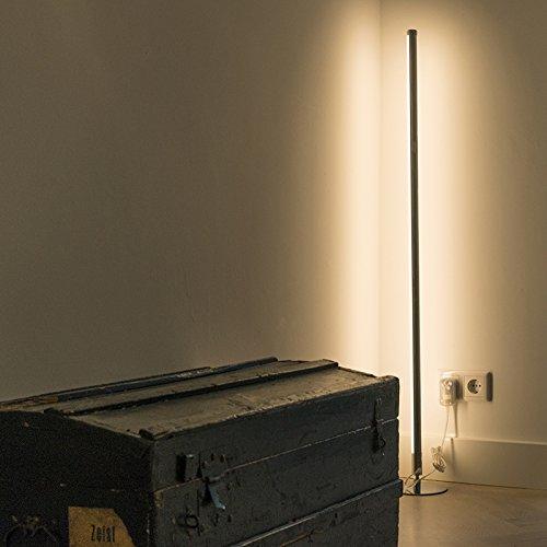 QAZQA Modern Stehleuchte / Stehlampe / Standleuchte LED Chrom Dimmer - 2