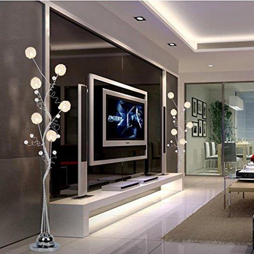 Heimatlampe Led Fernbedienung vertikale Stehleuchte, Aluminium Couchtisch Lampe moderne