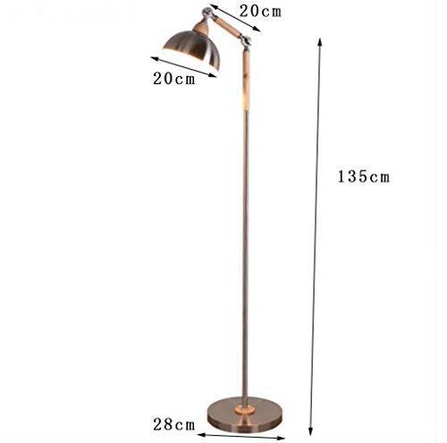 Stehlampe Schlafzimmer Studieren Wohnzimmer Schlafzimmer minimalistische moderne kreative Persönlichkeit Stehleuchte europäischen hölzernen vertikalen Tischlampe Stehlampe lesen, Nachttischlampen - 2