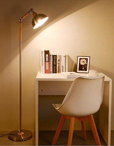 Stehlampe Schlafzimmer Studieren Wohnzimmer Schlafzimmer minimalistische moderne kreative Persönlichkeit Stehleuchte europäischen hölzernen vertikalen Tischlampe Stehlampe lesen, Nachttischlampen - 5