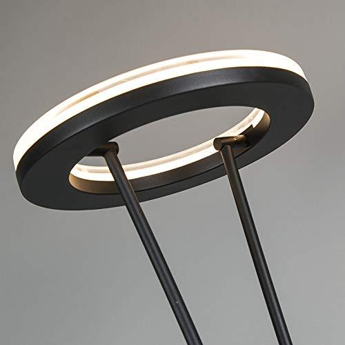 QAZQA Modern Stehleuchte / Stehlampe / Standleuchte schwarz Dimmer - 9