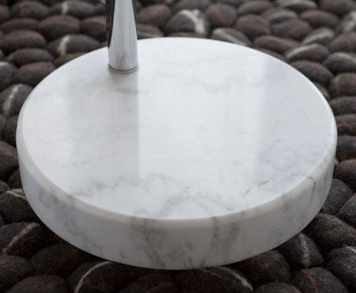 Steh-Lampe weiß mit Dimmer und Fuß aus Marmor 213x165 cm | Big Mess | Steh-Leuchte höhenverstellbar mit verchromten Metall | Bogen-Lampe für Wohnzimmer 213cm x 165cm - 6