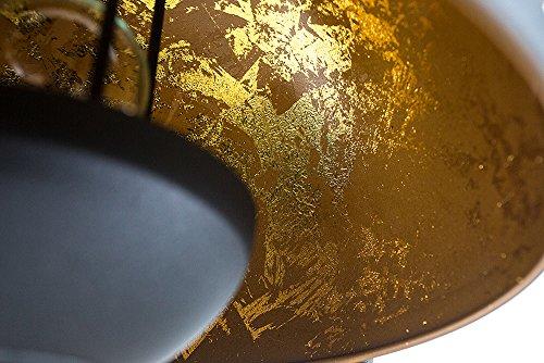 Moderne Design Stehlampe STUDIO III 170cm schwarz gold E27 Lampe Blattgold Optik Stehleuchte - 4