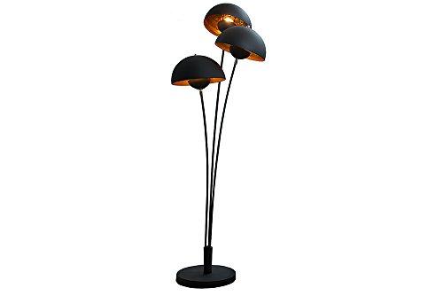 Moderne Design Stehlampe STUDIO III 170cm schwarz gold E27 Lampe Blattgold Optik Stehleuchte - 7