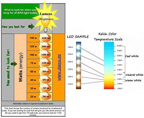 ATAPA 6 x A60 LED Leuchtmittel 7W E27 560 Lumen 270 ° sehr hell 60 W Ersatz Energiesparlampe Warm Weiß - 5