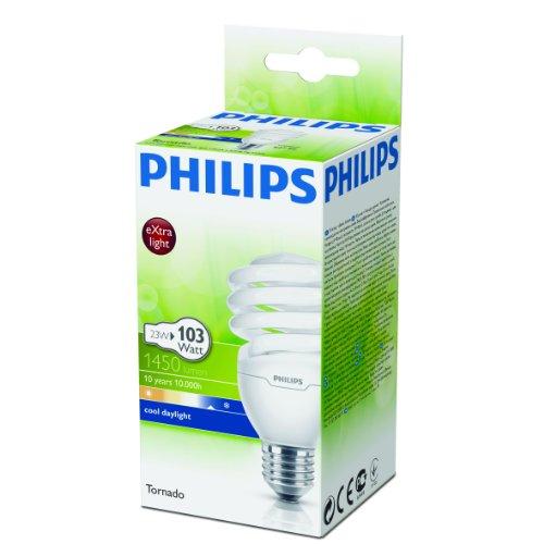 Energiesparlampe Tornado EEK A 23W E27 – Philips - 2