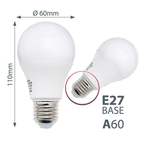 LED Glühbirne | 5er Set E27 | A60 Leuchtmittel | 9 Watt - 3