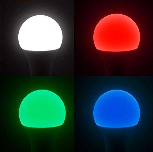 Luminea WLAN Licht: 3er-Set WLAN-LED-Lampen, komp. mit Alexa Voice Service, 10 W, - 9