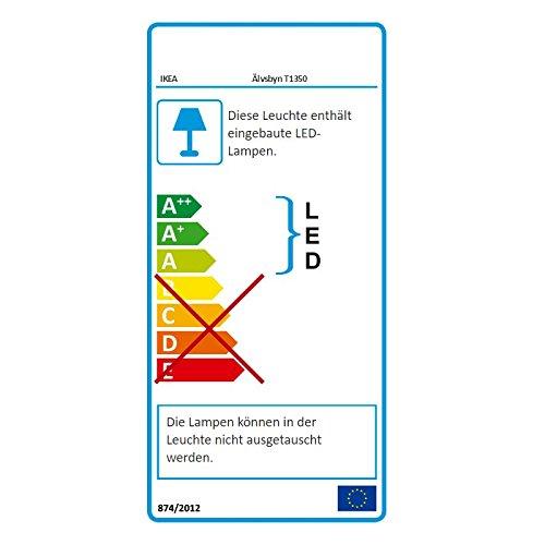 IKEA LED ÄLVSBYN Kronleuchter in weiß; A++ - 4