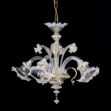 Helen Mignon Kronleuchter in Murano Glas 5 Lichter