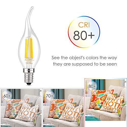 Windstoß Fadenlampe, E14, LED Birne als Kolbenlampe, warmweiß - 3