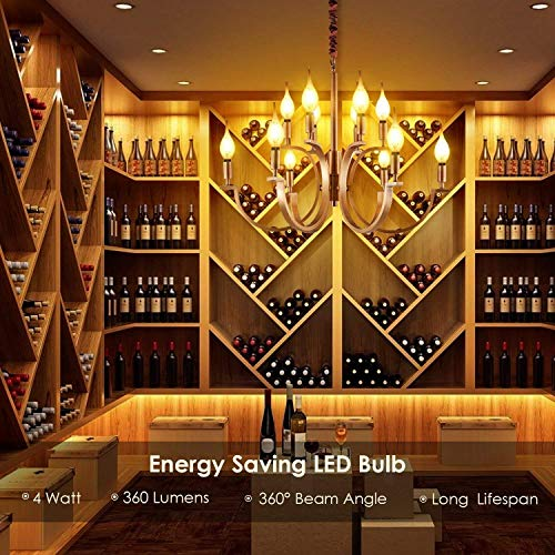 Windstoß Fadenlampe, E14, LED Birne als Kolbenlampe, warmweiß - 7