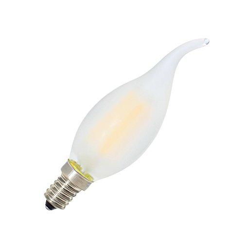 Kerzenform Lampe mit E14 Fassung,Filament Kerze Birne Windstoß - 3