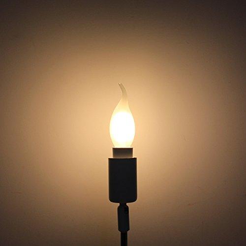 Kerzenform Lampe mit E14 Fassung,Filament Kerze Birne Windstoß - 4